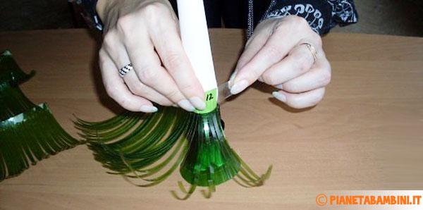 Posizionamento dei rametti in plastica