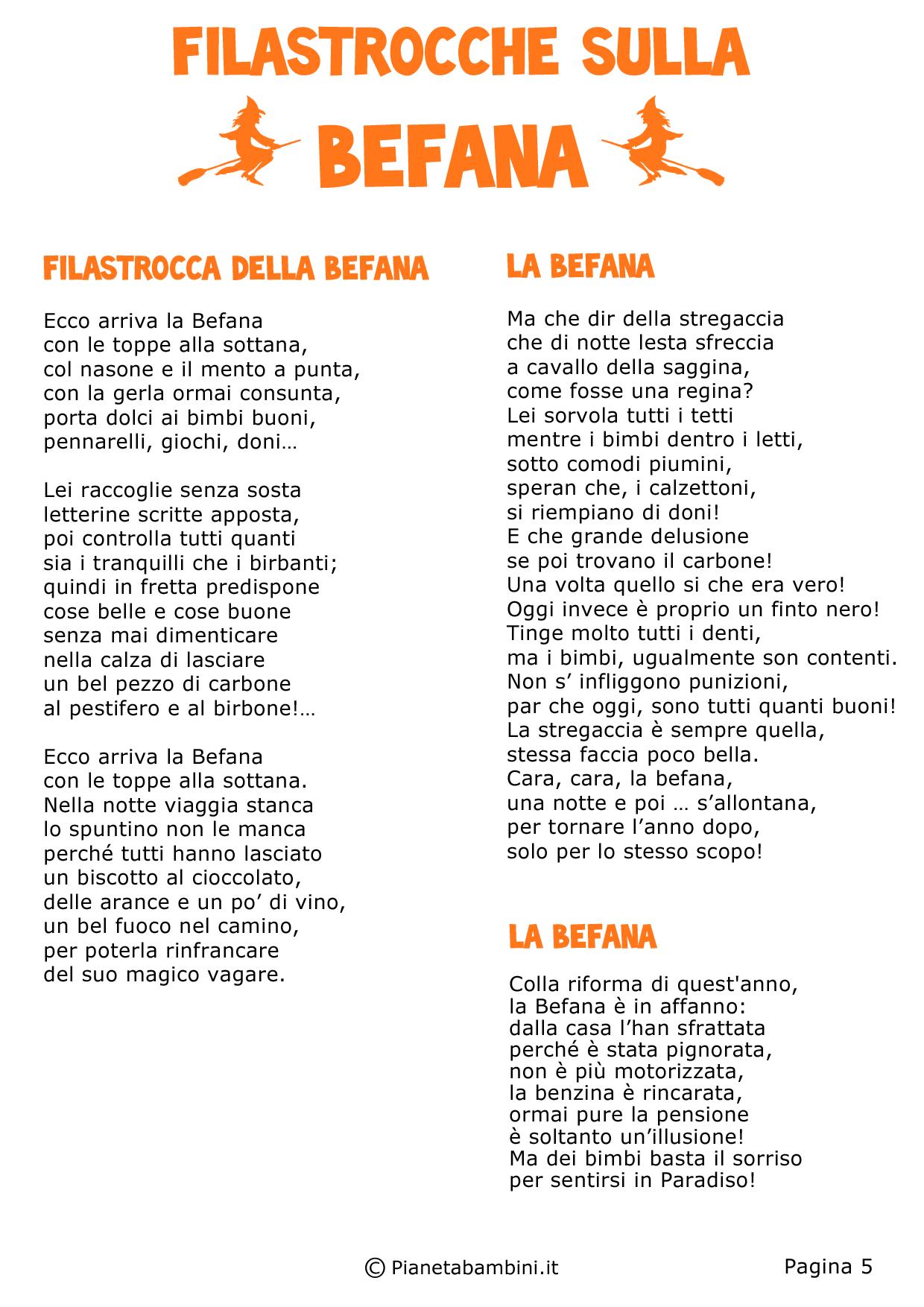Très 33 Filastrocche sulla Befana per Bambini | PianetaBambini.it MG13