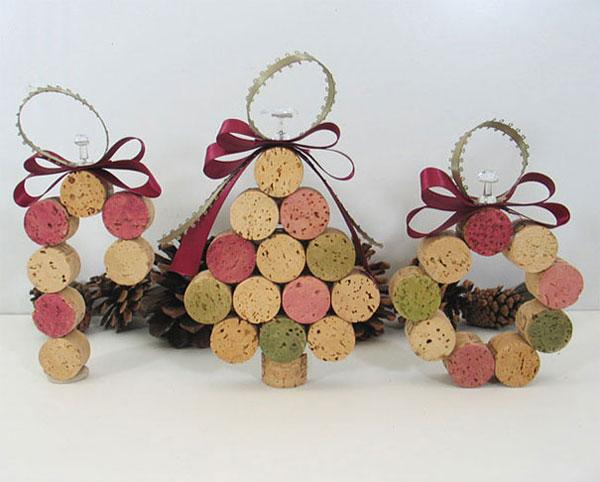 Decorazioni di Natale con tappi di sughero