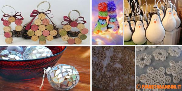 15 idee per decorazioni di natale fai da te for Decorazioni natalizie fai da te