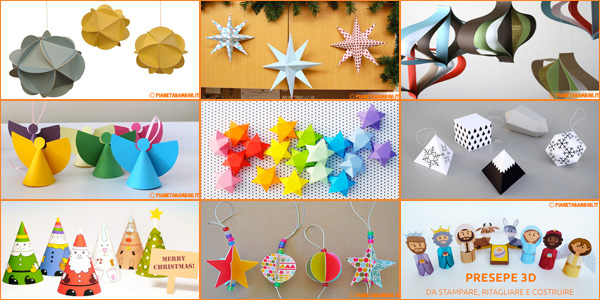 Lavoretti di Natale da creare con la carta