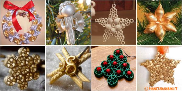Idee per lavoretti di Natale con la pasta