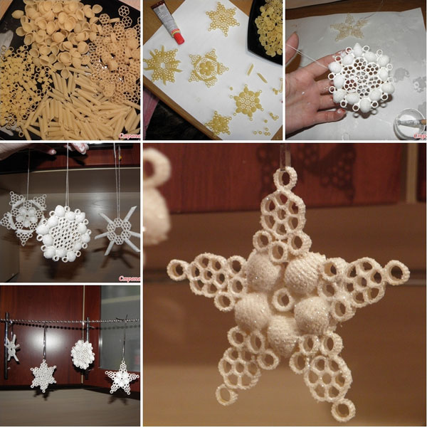 Fiocchi di neve da creare con la pasta