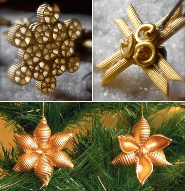 Idee per ornamenti natalizi con la pasta