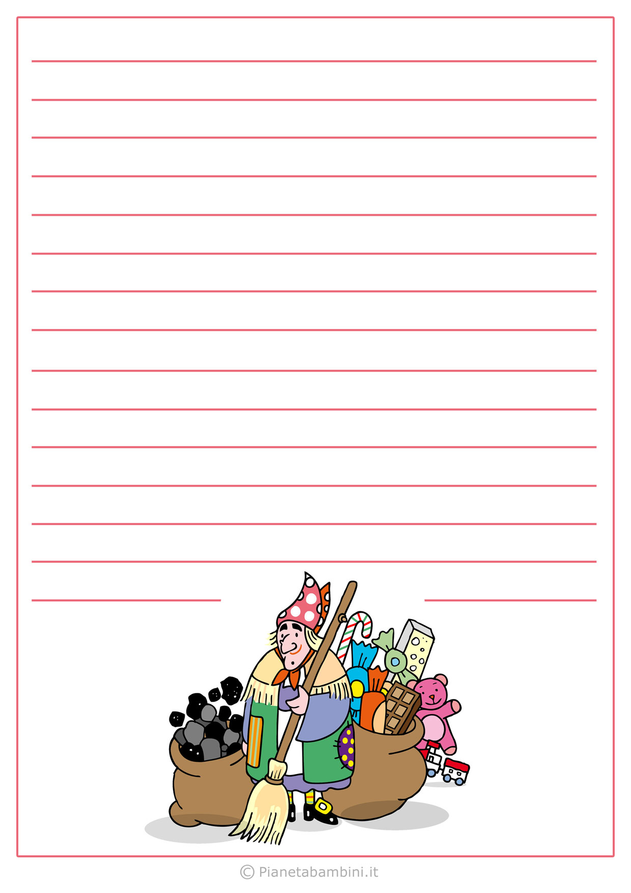 Lettera alla Befana da stampare n.04