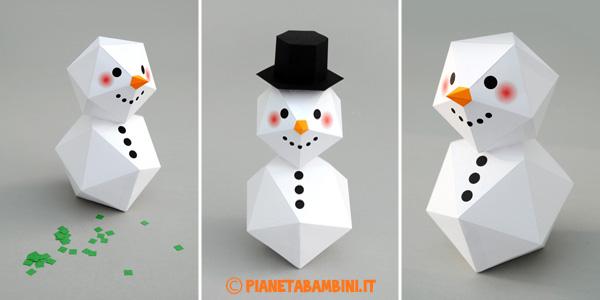 Come creare un pupazzo di neve con la carta
