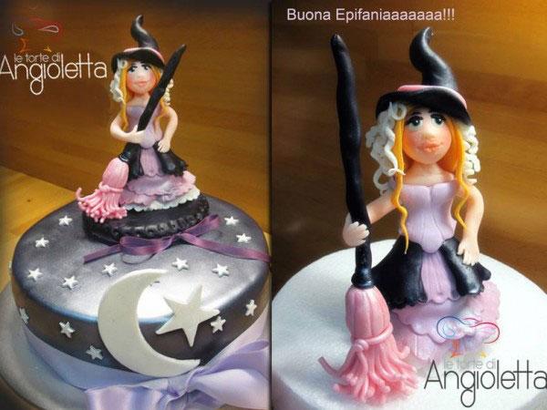 Foto della torta della Befana in pasta di zucchero n.16