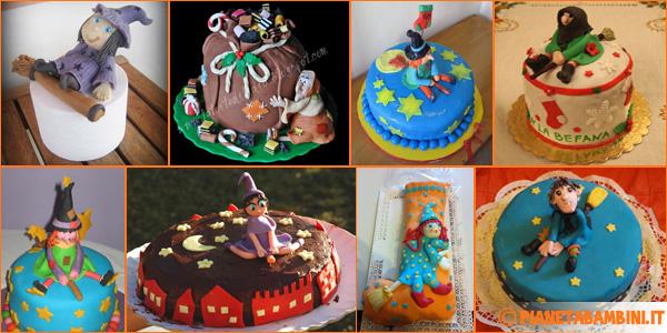 40 Torte Della Befana Con Decorazioni In Pasta Di Zucchero