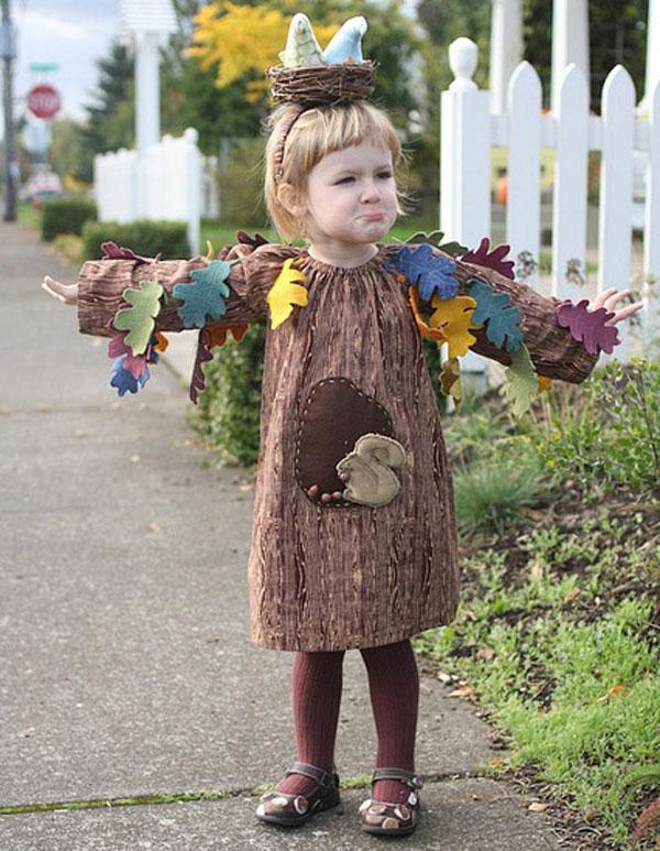 Costume da albero per bambini