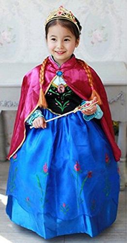 Costume di carnevale da Anna di Frozen
