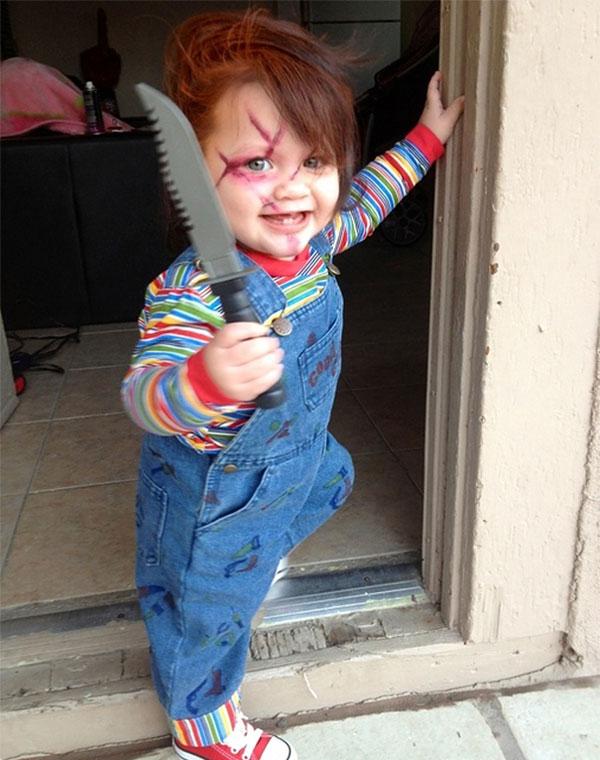 """Costume da Chucky de """"La bambola assassina"""" per bambini"""