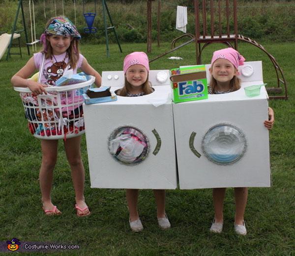 Costume da lavatrice, cesto e asciugatrice per bambini