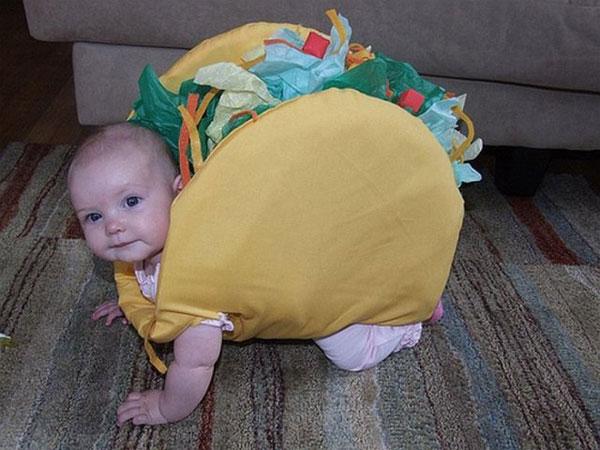 Costume da taco per bambini