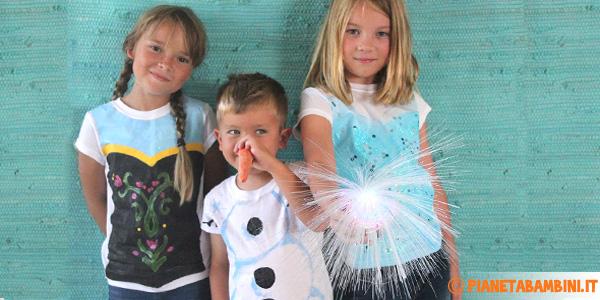Guida alla creazione di costumi di Elsa, Anna e Olaf di Frozen