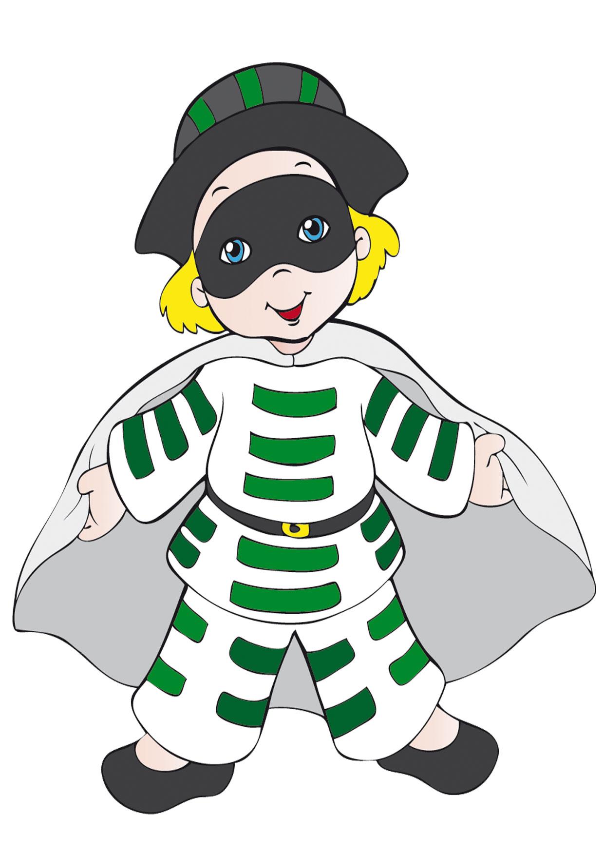 Maschera di Brighella in versione bambino