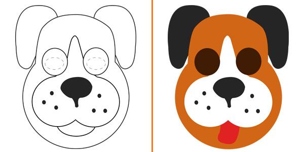 Maschera da cane da stampare gratis