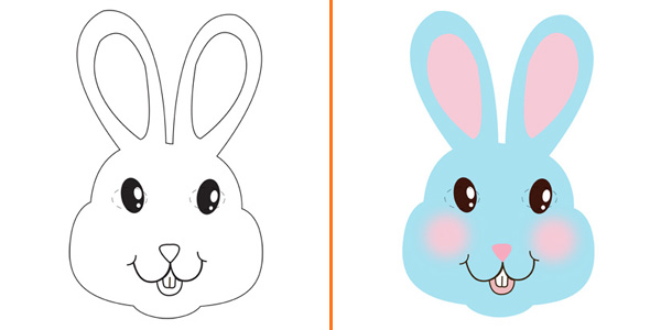 Maschera da coniglio da stampare gratis