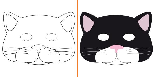 Maschera da gatto da stampare gratis