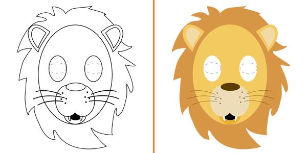 Maschera da leone da stampare gratis