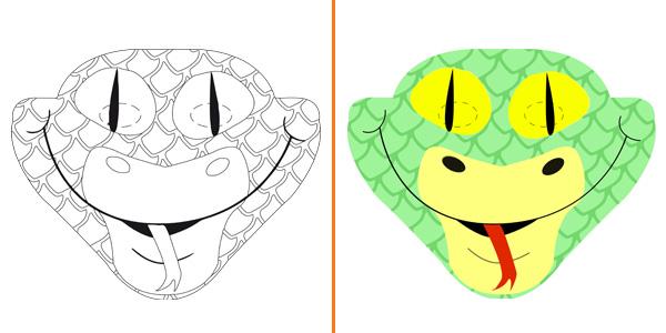 Maschera da serpente da stampare gratis