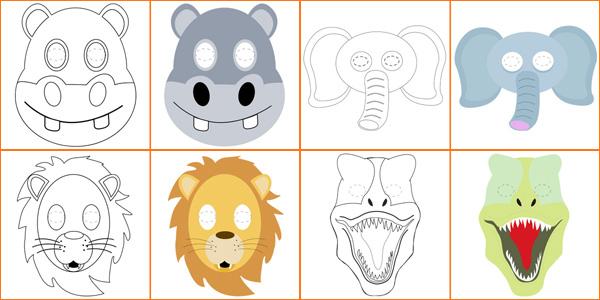 Maschere di animali da stampare, colorare e ritagliare