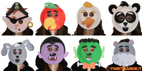 Idee per creare maschere di Halloween con piatti di carta