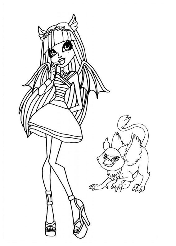 Monster High Immagini Da Colorare.93 Disegni Delle Monster High Da Colorare Pianetabambini It