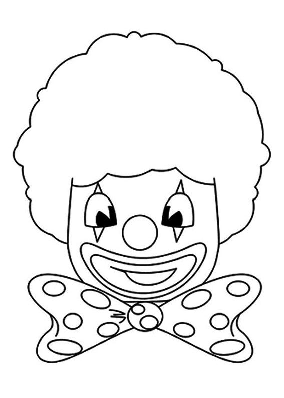 30 disegni di pagliacci da colorare - Scimmia faccia da colorare pagine da colorare ...