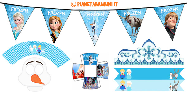 Decorazioni e addobbi di Frozen da stampare gratis