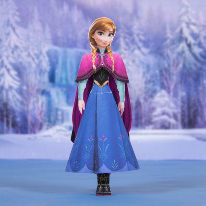 Principessa Anna in 3D da creare con la carta