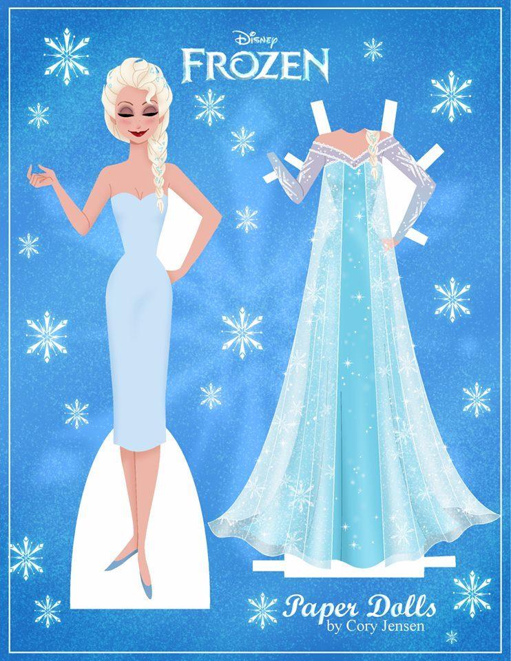 Bambola di carta di Frozen da ritagliare n.01