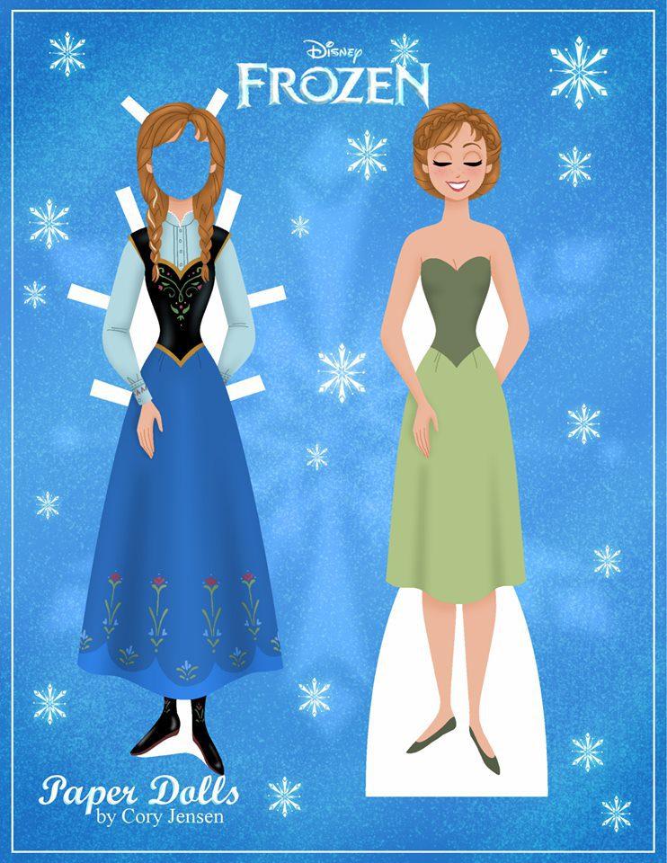 Bambole di carta di Frozen da ritagliare n.02