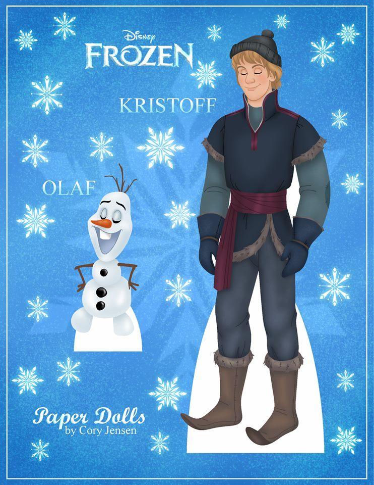 Bambole di carta di Frozen da ritagliare n.03