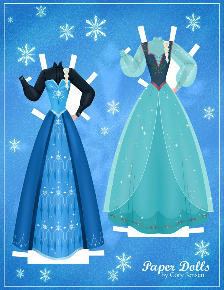 Bambole di carta di Frozen da ritagliare n.05