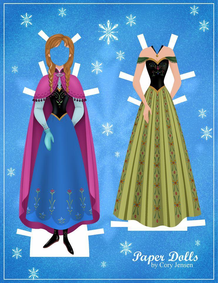 Bambole di carta di Frozen da ritagliare n.07