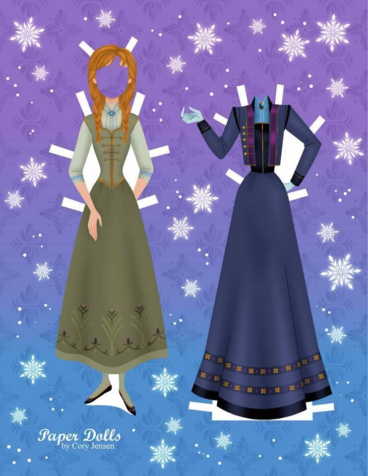 Bambole di carta di Frozen da ritagliare n.09