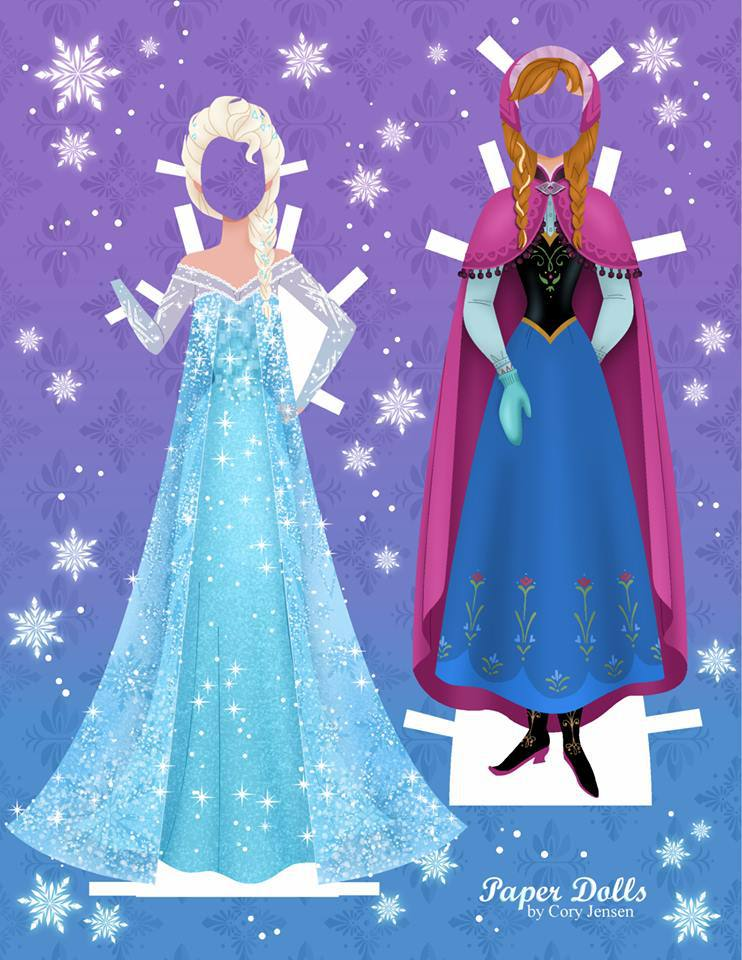 Bambole di carta di Frozen da ritagliare n.10