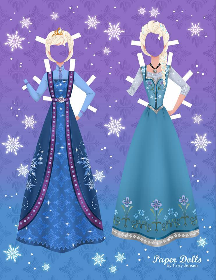 Bambole di carta di Frozen da ritagliare n.11