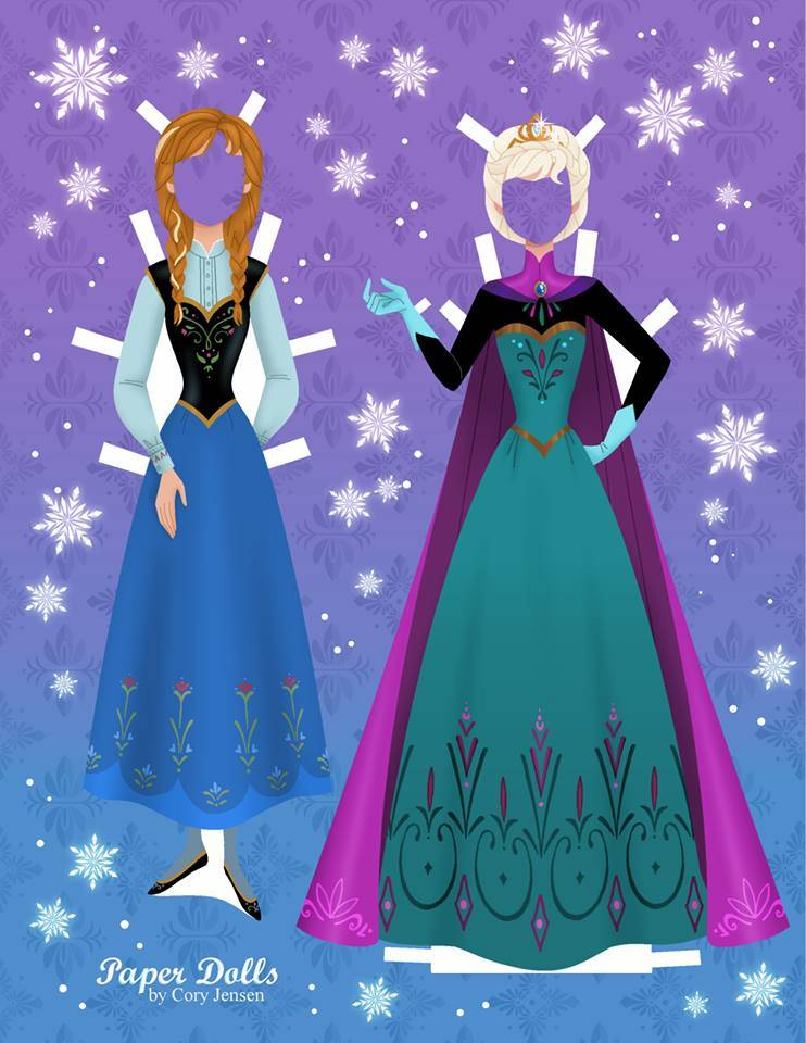 Bambole di carta di Frozen da ritagliare n.15