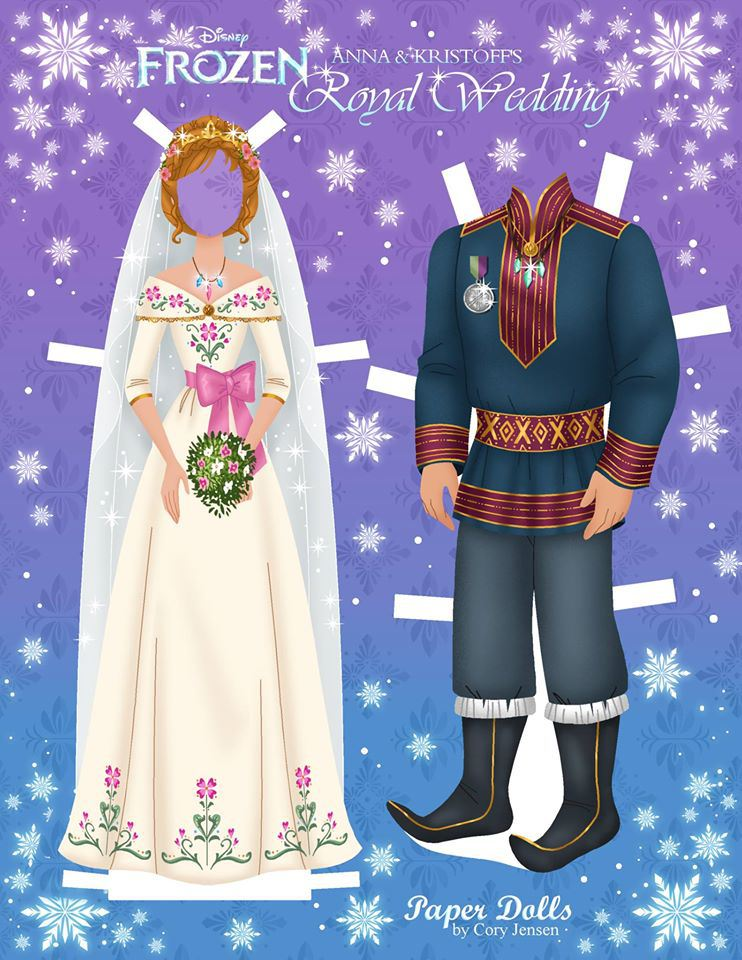 Bambole di carta di Frozen da ritagliare n.17