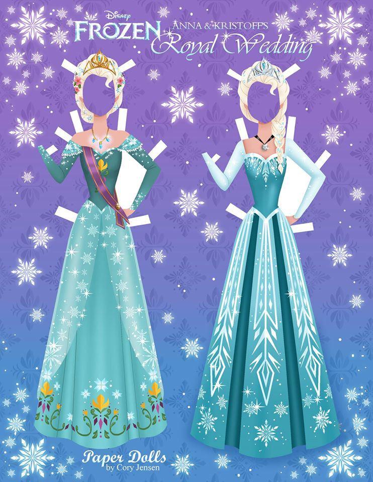 Bambole di carta di Frozen da ritagliare n.18