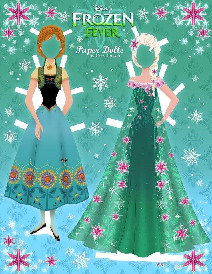 Bambole di carta di Frozen da ritagliare n.19