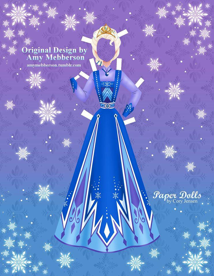 Bambole di carta di Frozen da ritagliare n.20