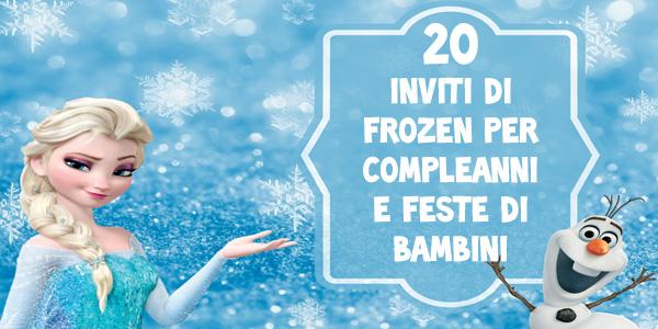 Biglietti di inviti per compleanno dedicati a Frozen
