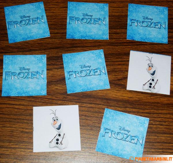 Immagine delle carte del gioco memory di Frozen