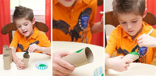 Come colorare i rotoli di carta