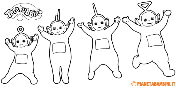 36 disegni dei teletubbies da colorare for Disegni da colorare estate