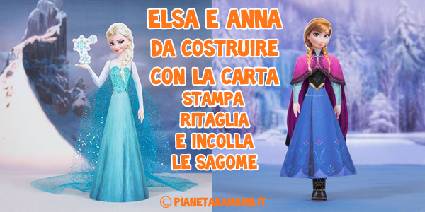Elsa-Anna-Frozen-Costruire-Carta