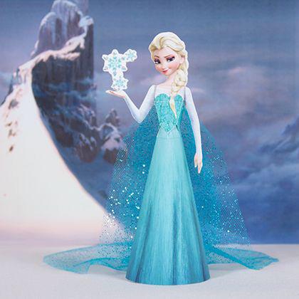 La principessa Elsa 3D creata con la carta