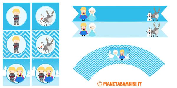 Etichette di Frozen da stampare gratis
